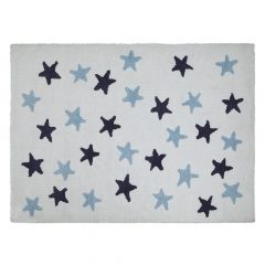 Lorena Canals   vloerkleed Messy Stars white blue marine