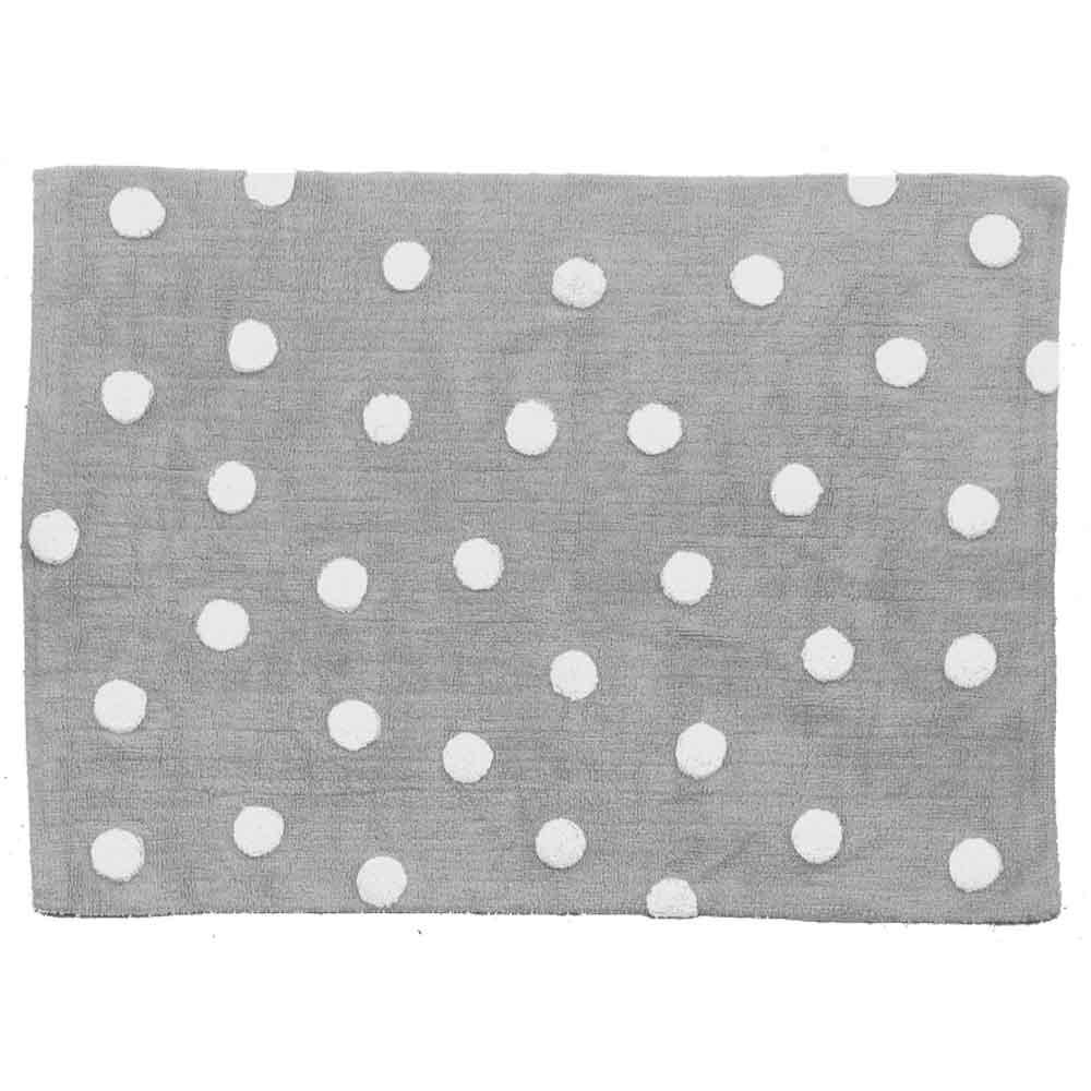 Lorena Canals – Katoenen vloerkleed – Dots – Grey – 120 x 160 cm