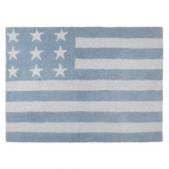 Lorena Canals vloerkleed kinderkamer Flag of America blue 120 x 160 cm