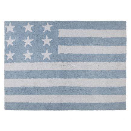 Lorena Canals vloerkleed kinderkamer Flag of America blue 120 x 160 cm