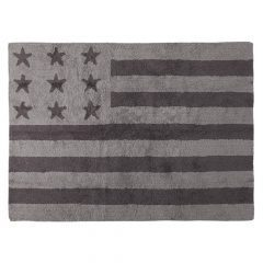 Lorena Canals vloerkleed kinderkamer Flag of America grey 120 x 160 cm