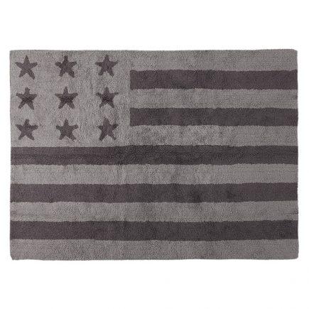 Lorena Canals vloerkleed kinderkamer Flag of America grey 120 x 160 cm