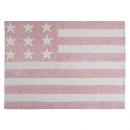 Lorena Canals vloerkleed kinderkamer Flag of America pink 120 x 160 cm