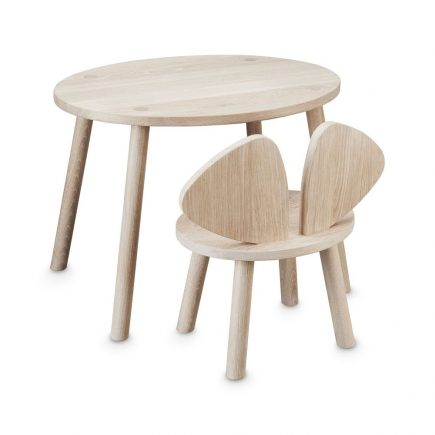 NOFRED Mouse chair plus table oak
