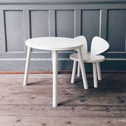 NOFRED Mouse chair plus table white