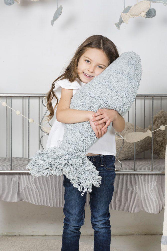 Lorena Canals - sierkussen Baby Fish -aqua