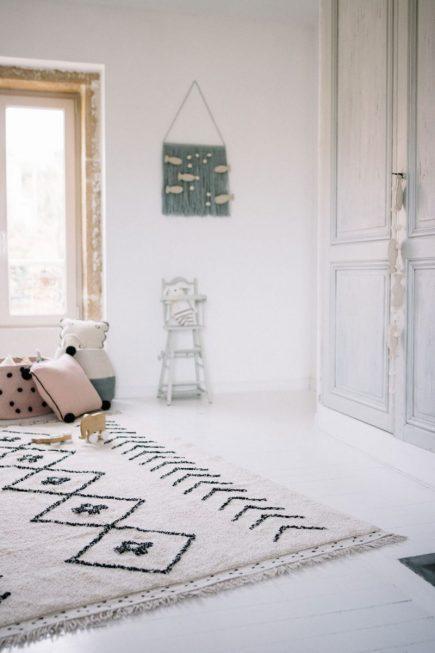 Vloerkleed katoen Bereber Rhombs 140 x 210 cm