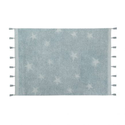 Vloerkleed Hippy Stars 120 x 175 cm aqua