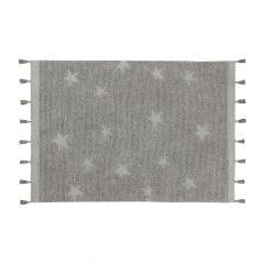 Vloerkleed Hippy Stars 120 x 175 cm grey