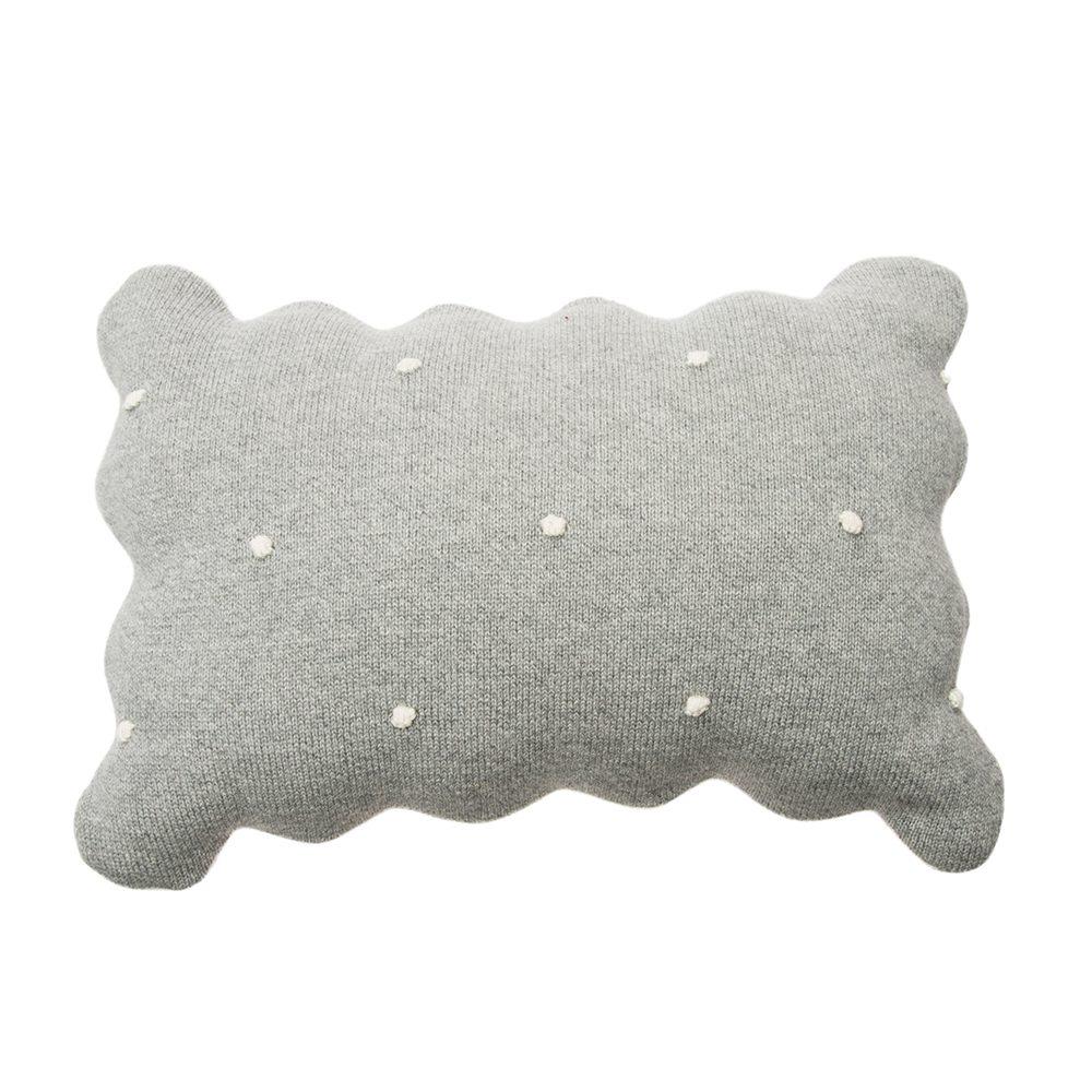 Lorena Canals – Wasbaar Kussen – Biscuit – Grey – 25 x 35 cm – grey