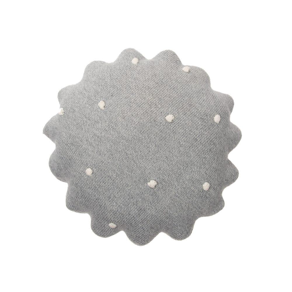 Lorena Canals – Sierkussen – Round Biscuit – Grey – 25 x 25 cm