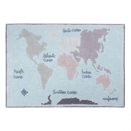 Lorena Canals Wasbaar vloerkleed Vintage map