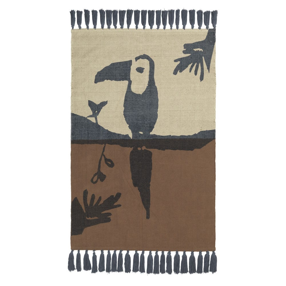 NOFRED Toucan Rug brown