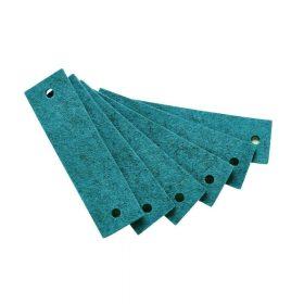 Leander – Vilten handgrepen voor Commode – Turquoise (6st.)