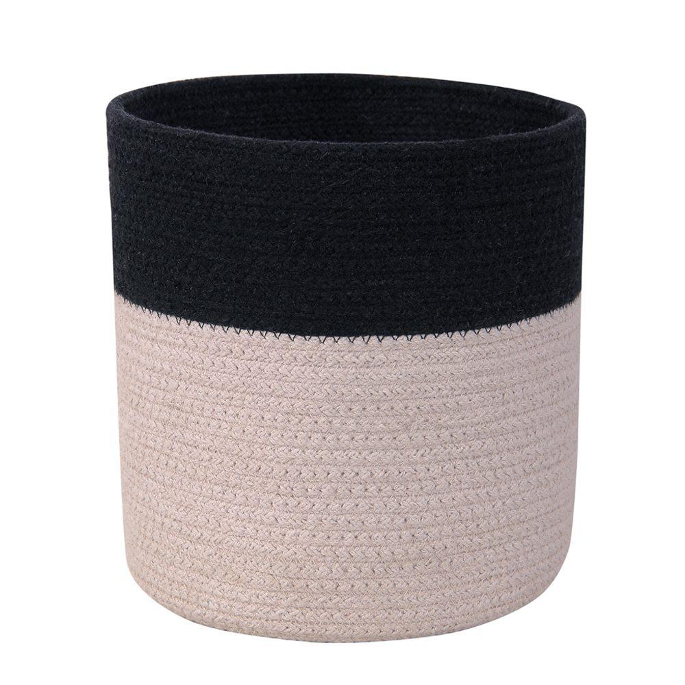 Lorena Canals – Kleine opbergmand – Dual – Black Pearl Grey – 22 x ø 21 cm