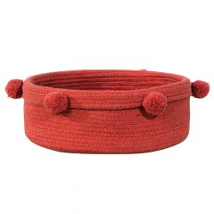 Lorena Canals Basket Tray brick red