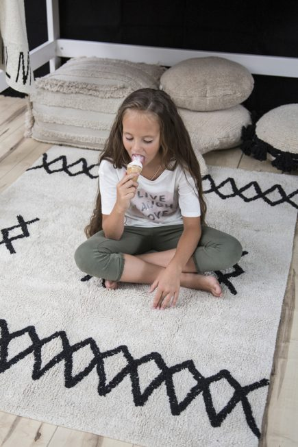 Lorena Canals Kindervloerkleed Atlas Natural Black
