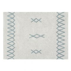 Lorena Canals Kindervloerkleed Atlas Natural Vintage Blue