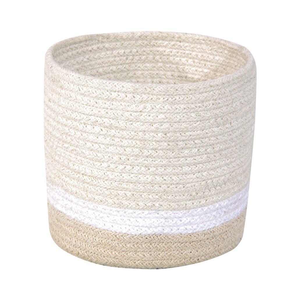 Lorena Canals – Mini Basket – Tricolor – Ivory – 15 x ø 15 cm
