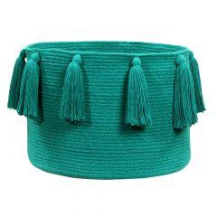 Lorena Canals Opbergmand Tassels emerald