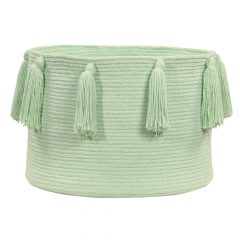 Lorena Canals Opbergmand Tassels soft mint