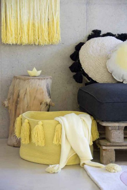 Lorena Canals Opbergmand Tassels yellow