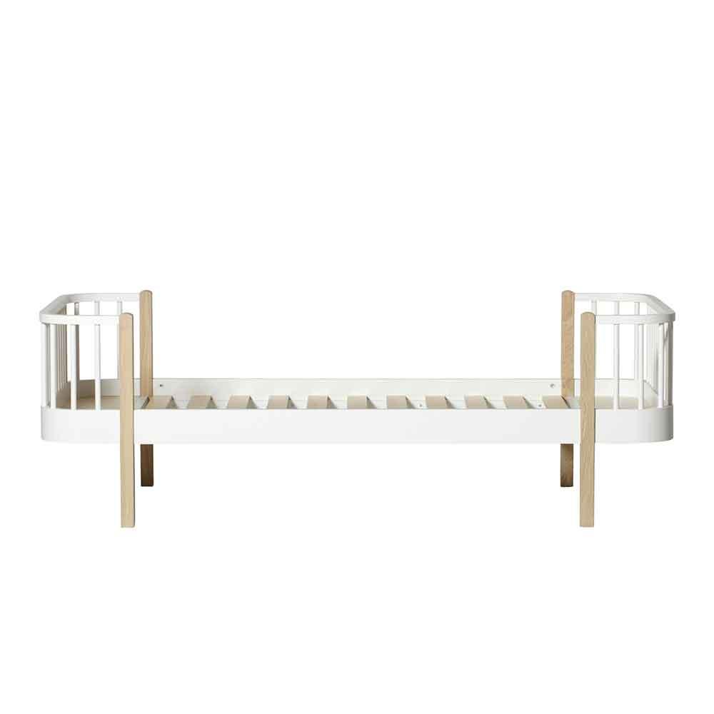 Oliver Furniture – Wood Original Bed – Wit/Eikenhout, 90 x 200 cm