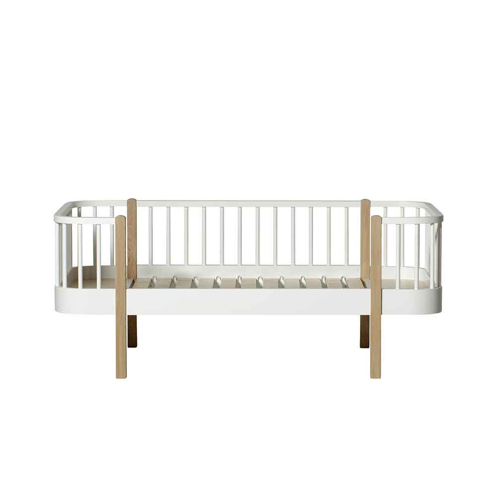 Oliver Furniture – Wood Original Junior Day Bed – Wit/Eikenhout, 90 x 160 cm