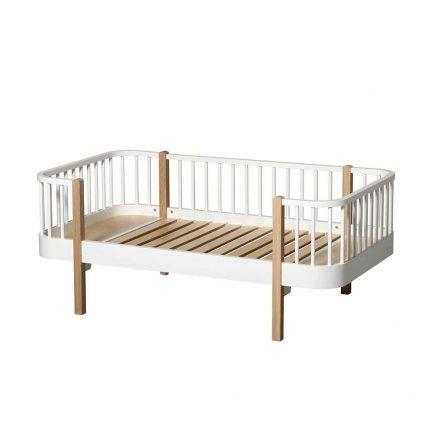 Oliver Furniture Juniorbed Wood met spijlen 90 x 160 cm white oak