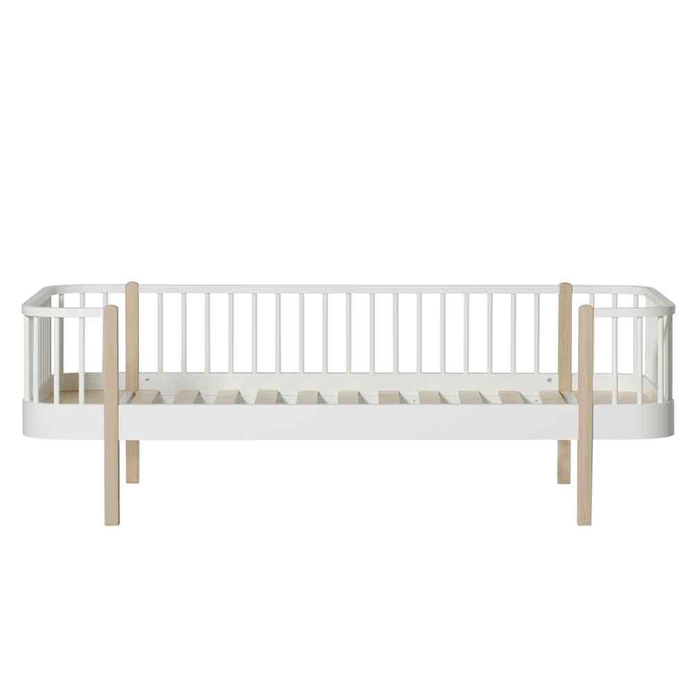 Oliver Furniture – Wood Original Day Bed – Wit/Eikenhout, 90 x 200 cm