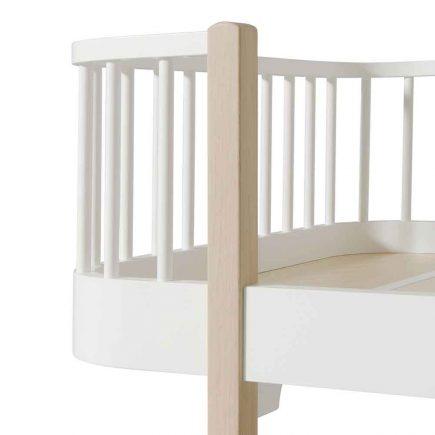 Oliver Furniture Juniorbed Wood met spijlen 90 x 200 cm white oak