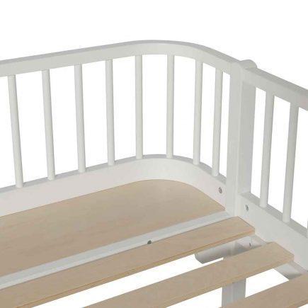 Oliver Furniture Juniorbed Wood met spijlen 90 x 200 cm white