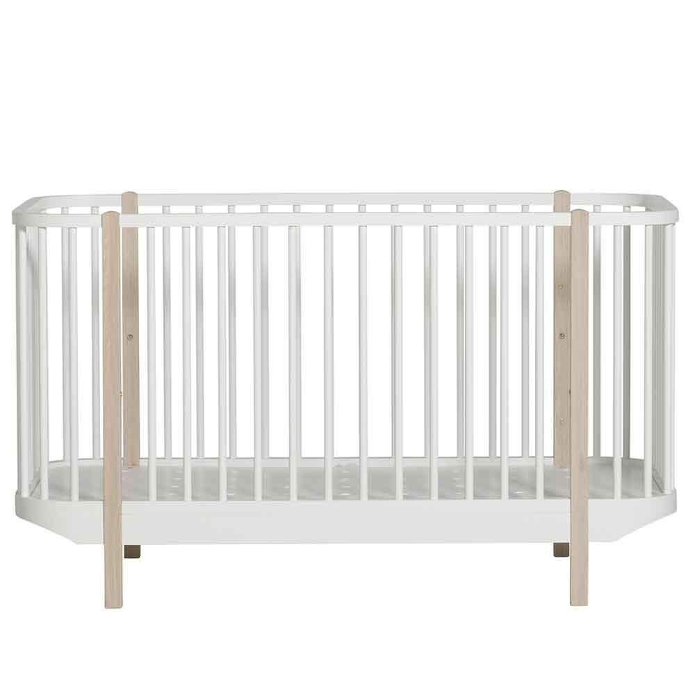Oliver Furniture – Wood Ledikant – Wit/Eikenhout, 70 x 140 cm