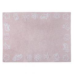 Lorena Canals vloerkleed katoen kinderkamer Animals pink