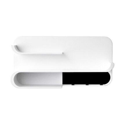 Rafa-kids - M Shelf met zwart metaal - white