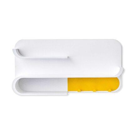 Rafa-kids - M Shelf met geel metaal - white