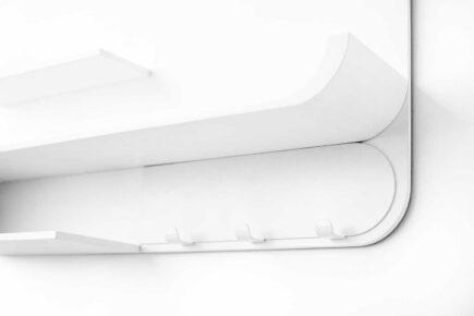Rafa-kids - M Shelf met wit metaal - white
