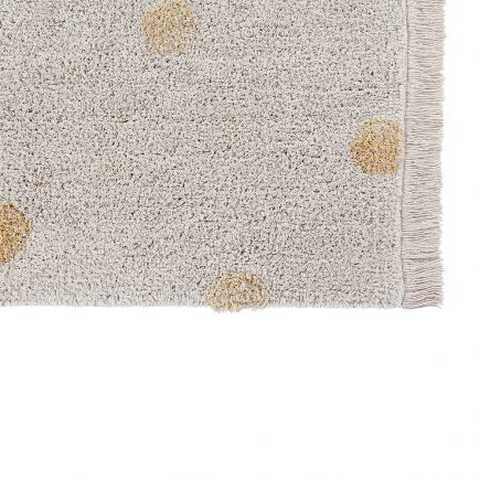 Lorena Canals - Washable Rug Hippy Dots natural - honey