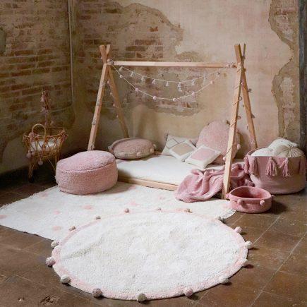 Lorena Canals Washable Rug Hippy Dots natural - vintage nude
