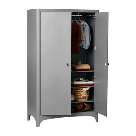 Leander kledingkast Classic 2 deuren grey