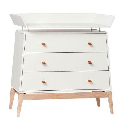 Leander Luna Dresser met Changing unit white/oak
