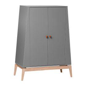 Leander – Kledingkast Luna Small 2 deuren – grey/oak