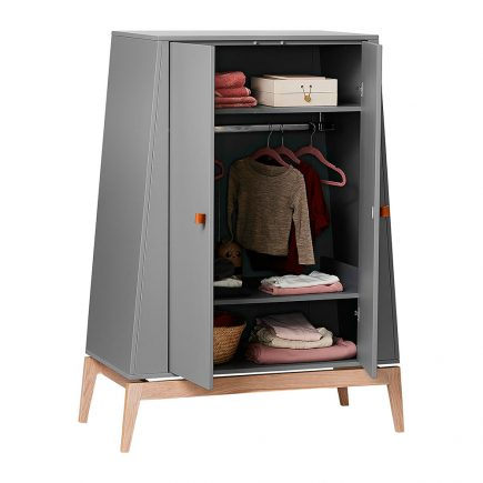 Leander Luna Wardrobe small grey oak