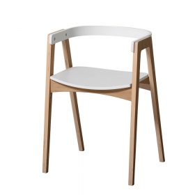 Oliver Furniture – Houten Bureaustoel – Wit/Eikenhout