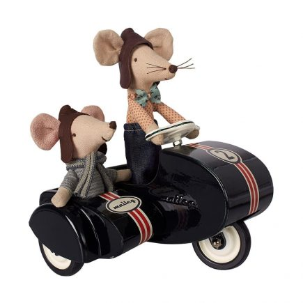 black scooter with mice