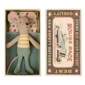 Maileg – Little Brother Mouse – Muis in Doosje – 10 cm