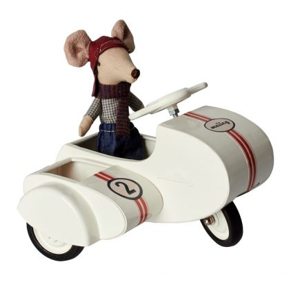 white scooter with mouse