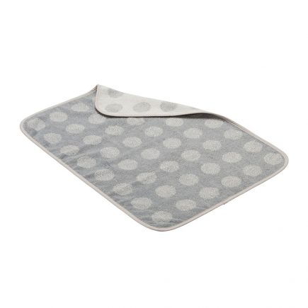 Topper for changing mat Organic cool grey