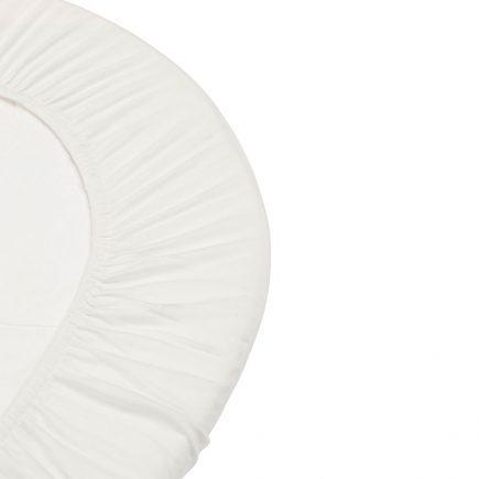 Hoeslaken voor Leander Cradle Organic 2 pcs snow 49 x 79 cm