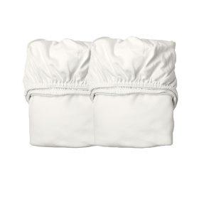 Leander – Hoeslaken voor Junior Bed, Organic – Snow (2st.) 70×140 cm